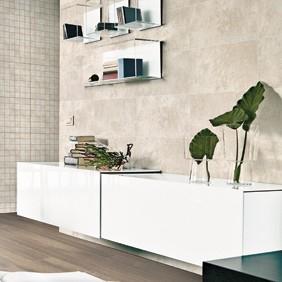 Porcelánico aspecto cemento para baños