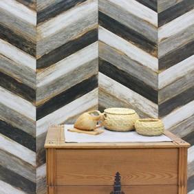 Suelo porcelánico efecto madera