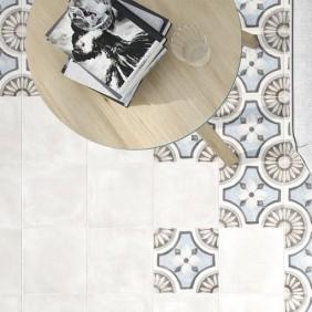Pavimento porcelánico aspecto hidráulico