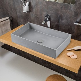 Lavabo Cemento Sobrencimera 64x36,5