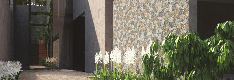 Revestimiento paredes exteriores imitación piedra