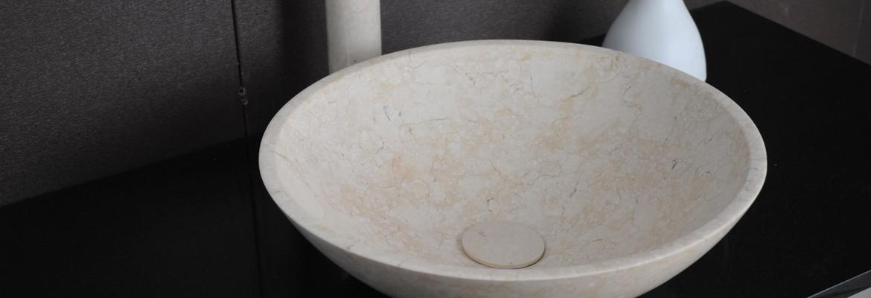 Lavabo à poser en pierre naturelle