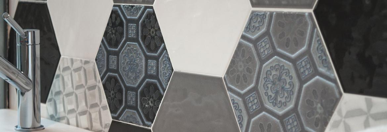 revestimiento hexagonal